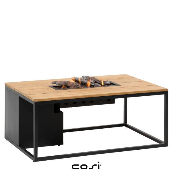table foyer extérieur à gaz