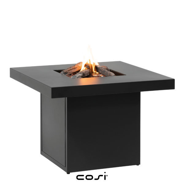 table basse foyer à gaz