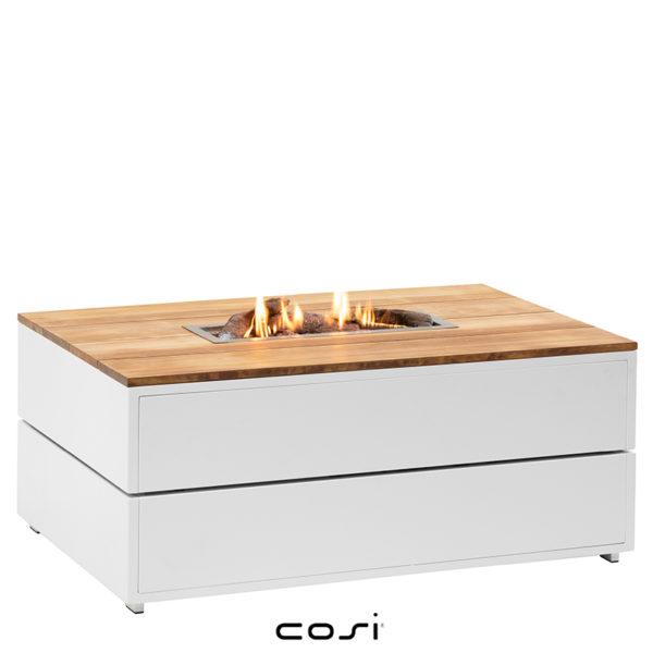 table à feu plateau teck